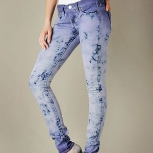 238a0ad6f True Religion. True Religion Stella Blue Tie Dye Skinny Jeans 27